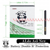 Baterai Aldo As5 As 5 New Double IC Protection