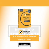 Antivirus Norton Security Premium 3 PC 1 Tahun