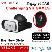 VR BOX 2 with Magnetic Button, Cardboard Virtual Realit