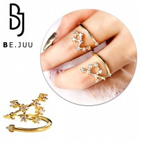 BE.JUU Cincin Zodiak / Zodiac Ring Korean Jewelry | New Brass / Silver Plated