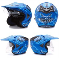 [HELM DEWASA PREMIUM] WTO Helmet Pro-sight Cross - DOUBLE VISOR