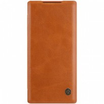 Nillkin Leather Flip Case Samsung Galaxy Note 10 Plus Brown