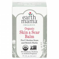 Earth Mama Organic Skin & Scar Balm for C-Section Scars Stretch Marks