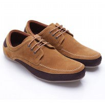 Dr.Kevin Men Shoes Suede 13248 Tan/Brown