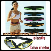 Double Pocket Running Belt / Tas Jogging Model Ikat Pinggang
