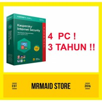 Kaspersky Internet Security 2018 4 PC 3 Tahun