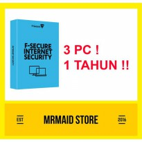 F-Secure Internet Security 3 PC 1 Tahun