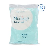 Medisoft Cotton Ball 120 pcs isi 12 pack