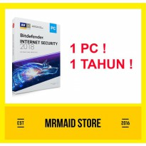 Bitdefender Internet Security 2018 1 PC 1 Tahun