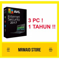 AVG Internet Security 2017 3 PC 1 Tahun