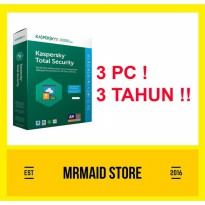 Kaspersky Total Security / Pure 2018 3 PC 3 Tahun