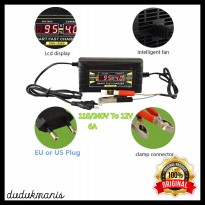 Charger Aki Mobil Charger Aki Motor 12V6A Charger Accu Digital HOB-085