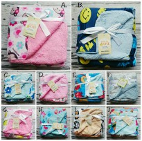 Selimut Double Fleece Carters - Newborn - Unisex / Selimut carter double fleece motif A