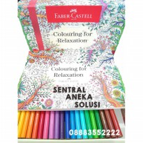 BEST Faber Castell Conector Pen 60 + Buku Mewarnai Colouring For Relaxation