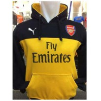 Sweater Hoodie Bola A-351 Arsenal Football Club Kombinasi Hitam Kuning