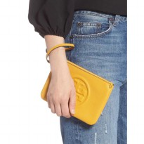 Authentic TB Perry Bombe Wristlet - Yellow