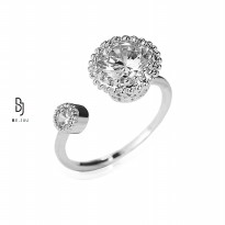 BE.JUU Cincin Shining Shimmering Korean Jewelry Adjustable Ring
