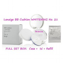 Laneige BB Cushion Whitening SPF 50+ PA+++ No. 21 BEIGE FULL SET + Refill
