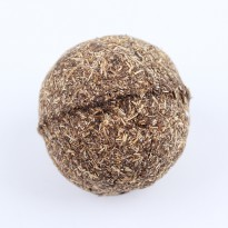 Mainan Cakaran Kucing Bentuk Bola Aroma Catnip Cat Scratcher Ball - Brown