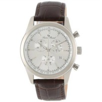 [macyskorea] Lucien Piccard Mens LP-11570-02S Eiger Chronograph Silver Dial Brown Leather /1698406