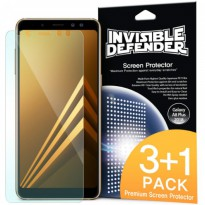 Rearth Samsung Galaxy A8 Plus 2018 Ringke ID Invisible Defender Screen Protector (isi 4pcs)