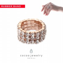 cocoa jewelry Cincin Wanita Korea - Holding Rose Gold Color