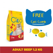 Cleo Beef Adult Cat Food [1.2 kg] dan Cat Comb Cleo