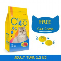Cleo Tuna Adult Cat Food [1.2 kg] dan Cat Comb Cleo