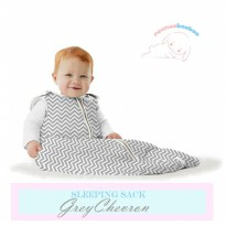 Neenaabooboo Sleep Sack - Grey Chevron (3-6Y)