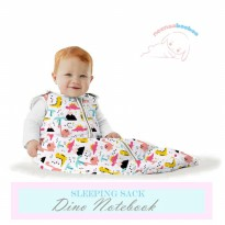 Neenaabooboo Sleep Sack - Dino Notebook (0-6M)
