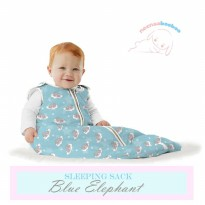 Neenaabooboo Sleep Sack - Blue Elephant (0-6M)