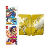 Pokemon Sword and Shield Bundle Gold Steelbook Nintendo Switch Game