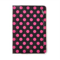 Ormano Cover Dompet Paspor Polkadot Holder - Hitam Pink