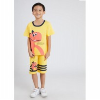 (POP UP AIA) LITTLE ROCK Hello Dino T Pair Short