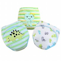 [Mom n Bab] Training Pants - Celana Toilet Training Bahan Katun Usia 1-3 Tahun - TPMB