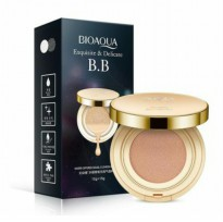 (1 plus 1 refill) bioaqua gold cream air BB cushion pack SPF 50++ (15gr cushion cream + 15gr Refill)