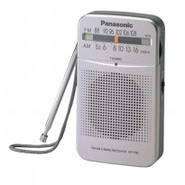 Panasonic Radio Pocket RF-P50 - AM-FM Silver Free Earphone