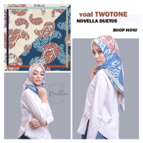 NOVELLA SCARF Two Tone Ecovoal 110cm | DUET05