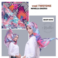 NOVELLA SCARF Two Tone Ecovoal 110cm | DUET03