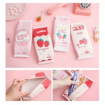 TP0071 Tempat Pensil Japanese Strawberry Milk / Tempat Kosmetik