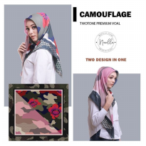 NOVELLA SCARF Ecovoal 110cm | CAMOUFLAGE