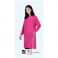 Long dress/atasan wanitaAzzura 589-13 MAGENTA