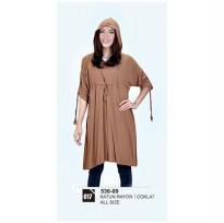 Long dress/atasan wanitaAzzura 536-09 COKLAT