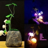 LED Avatar Mushroom 7 Warna, Automatic Light Control - STONE / BATU