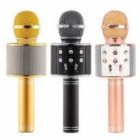 WS-858 Wireless Microphone Portable Home Karaoke Handheld Bluetooth Player For iphone 6 6s 7 5S ipad