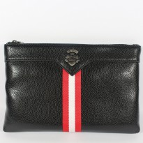HANDBAG CLUTCH TAS TANGAN PRIA IMPORT BRANDED | BALLY 832 BLACK
