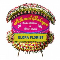 Elora Florist: AMF - 005 - Papan Bunga Happy Wedding