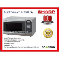 Microwave Sharp R-230R(S) - Silver Low watt 399 Watt 22 Lt