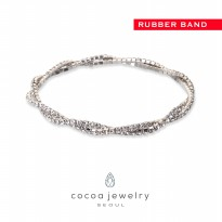 cocoa jewelry Gelang Wanita Korea - Crystalline Varian Color - No Box