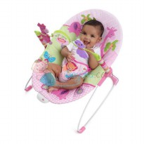 Bright Starts Pretty In Pink Sweet Safari Bouncer Color Pink Age 0M+